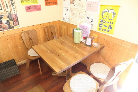 いこり庵テーブル席